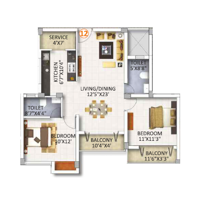 Spacious 2Bhk Flats in Chennai